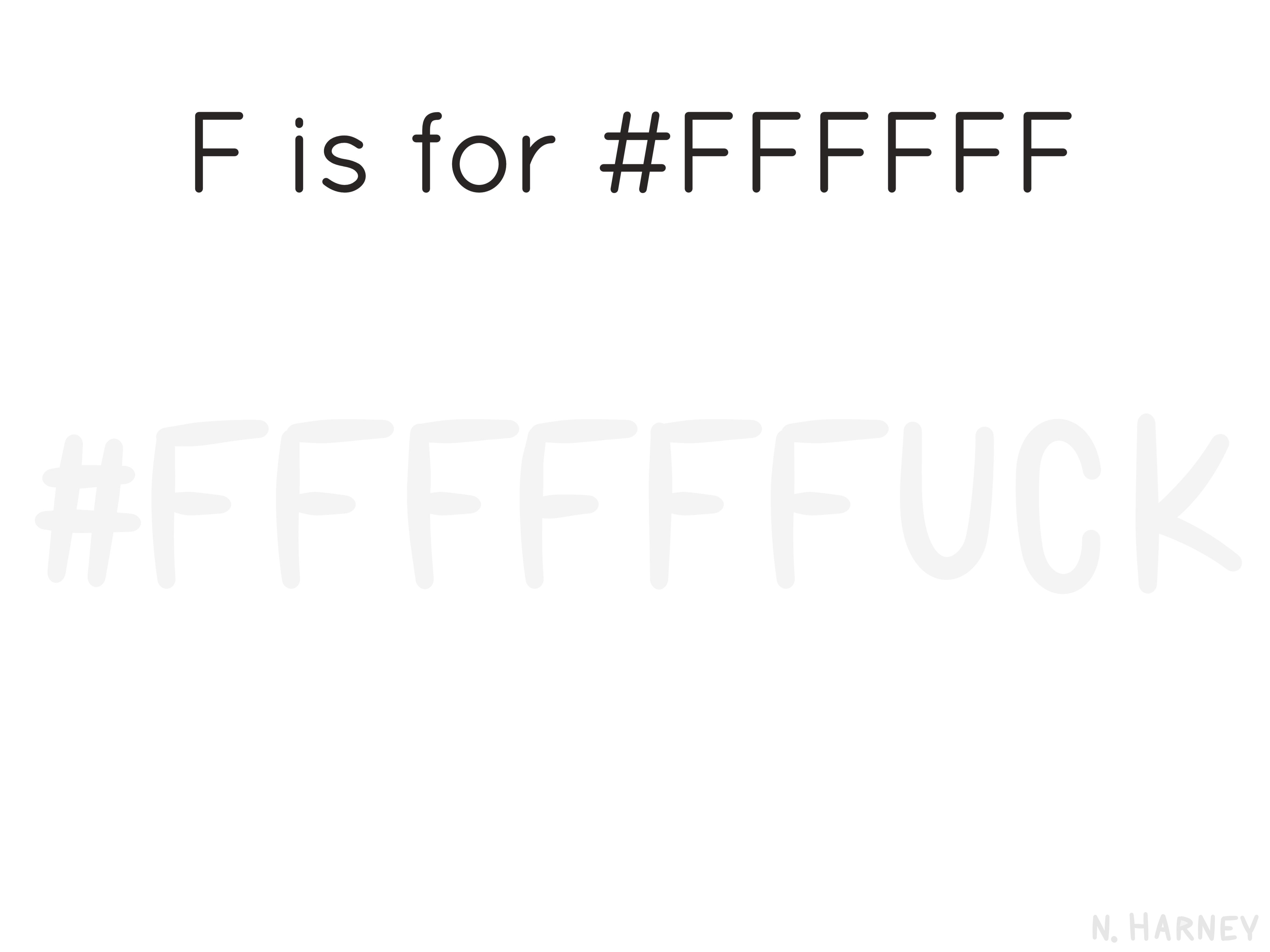 designer's alphabet letter f