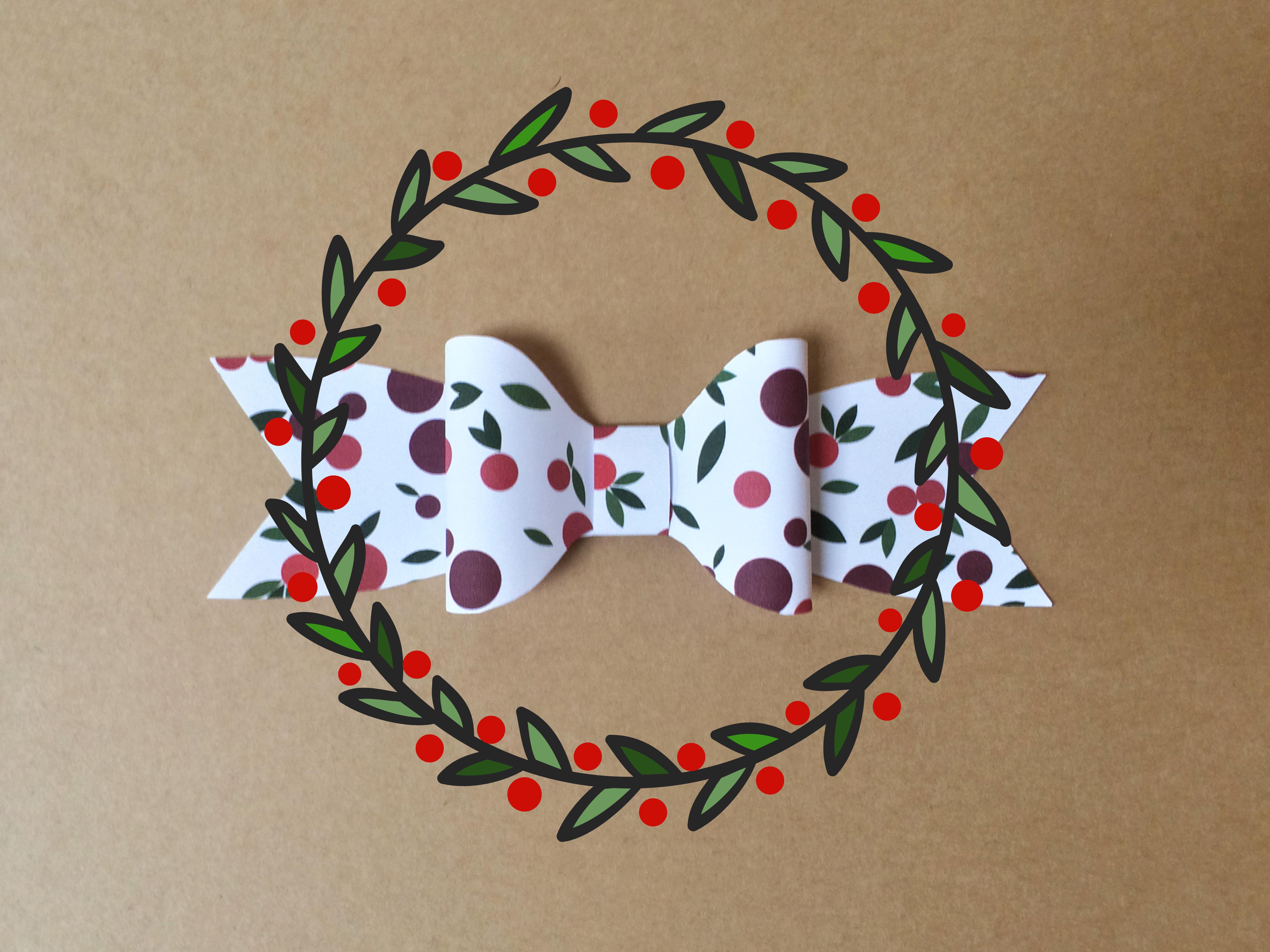FREE printable christmas decorative bow