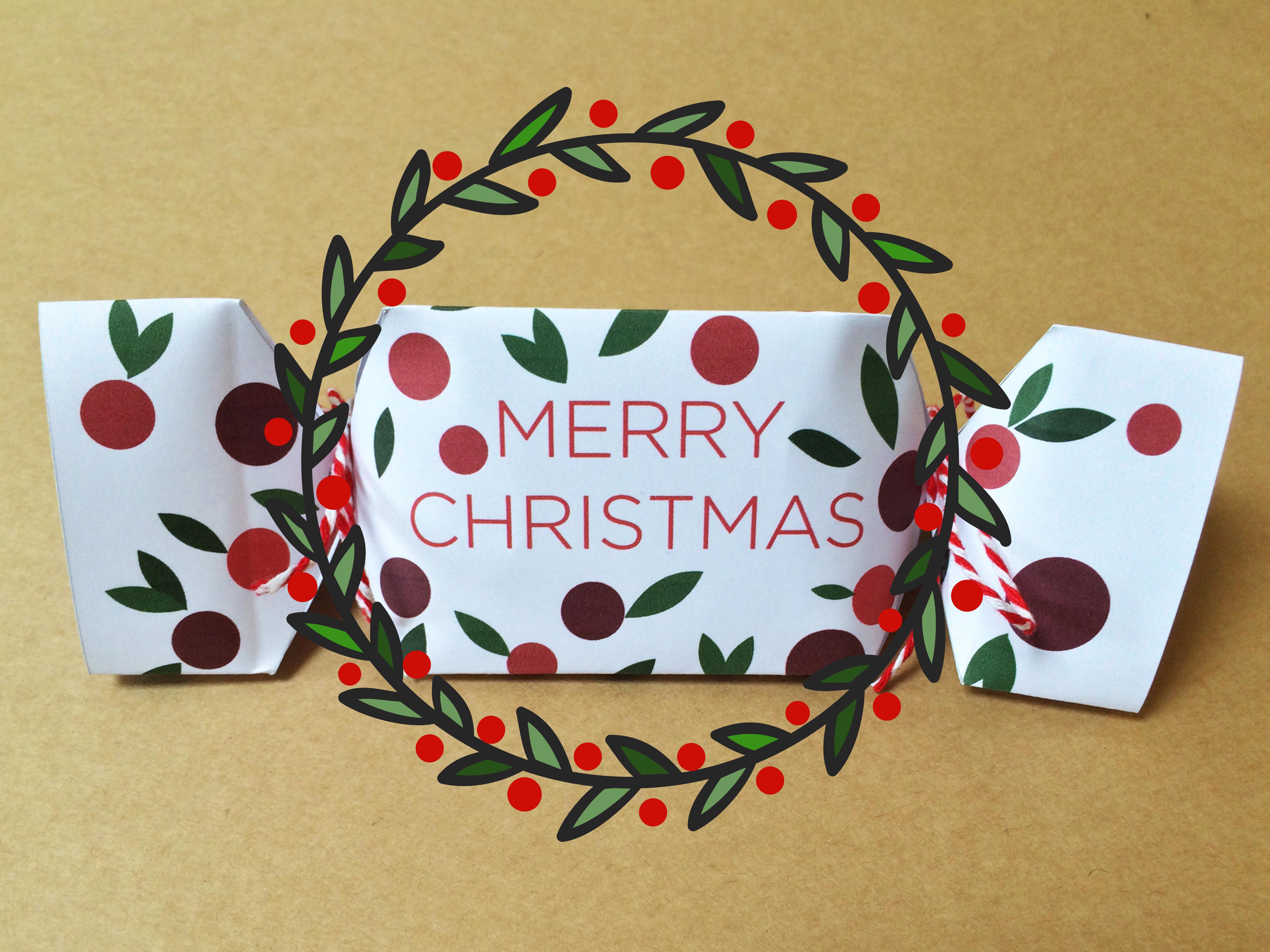 FREE printable DIY Christmas cracker