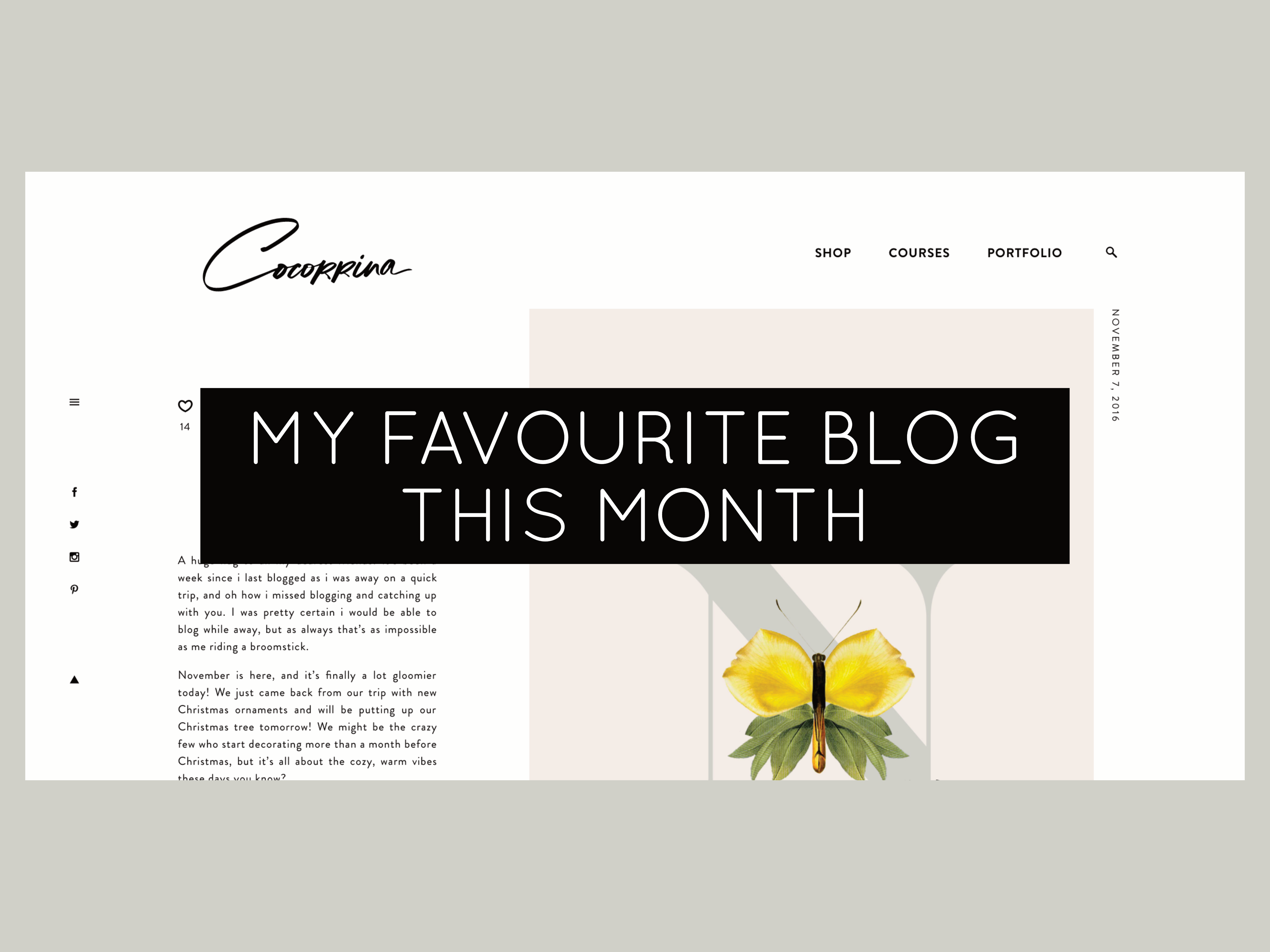 my favourite blog of the month cocorrina