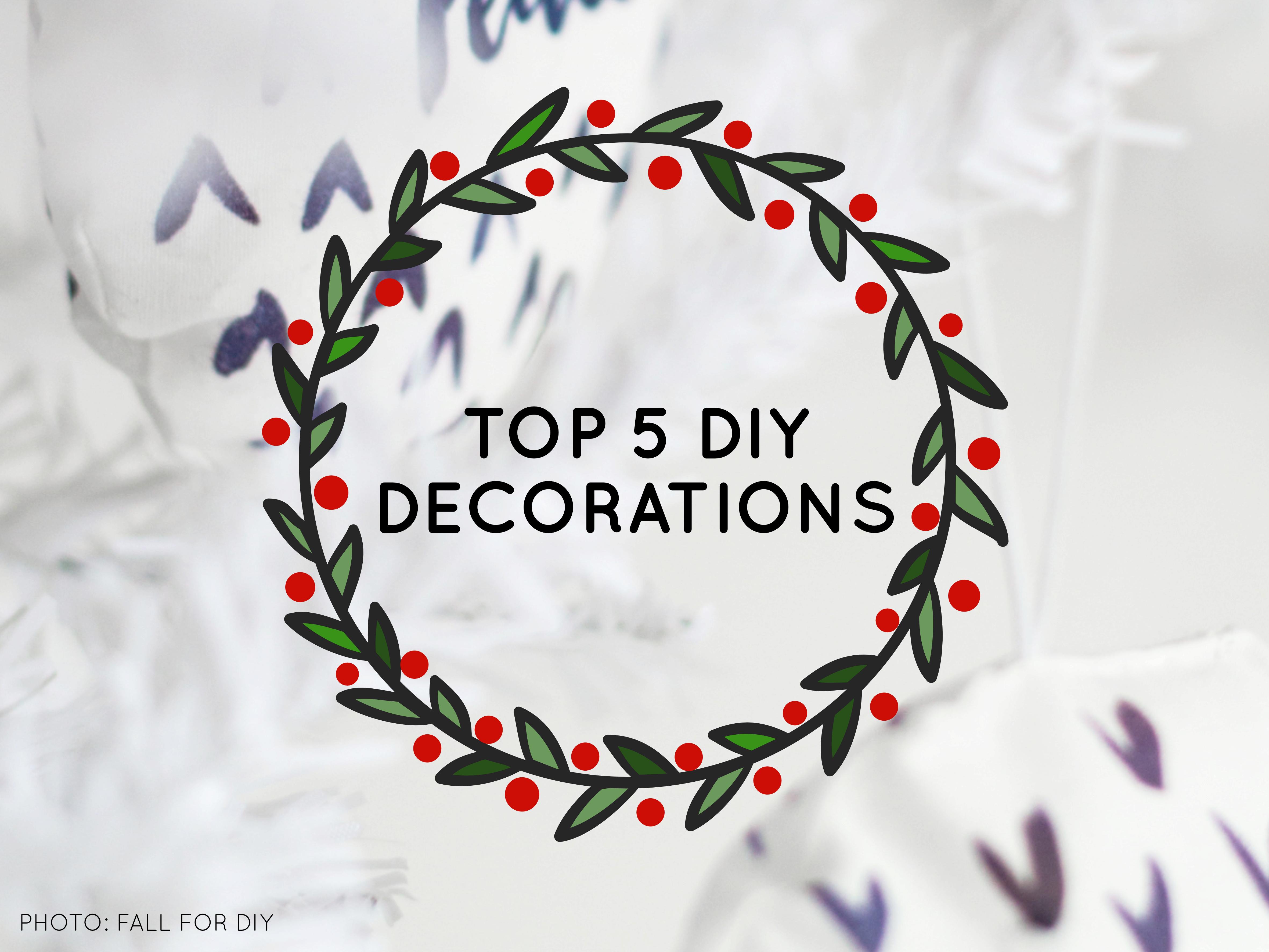 Top 5 DIY christmas decorations