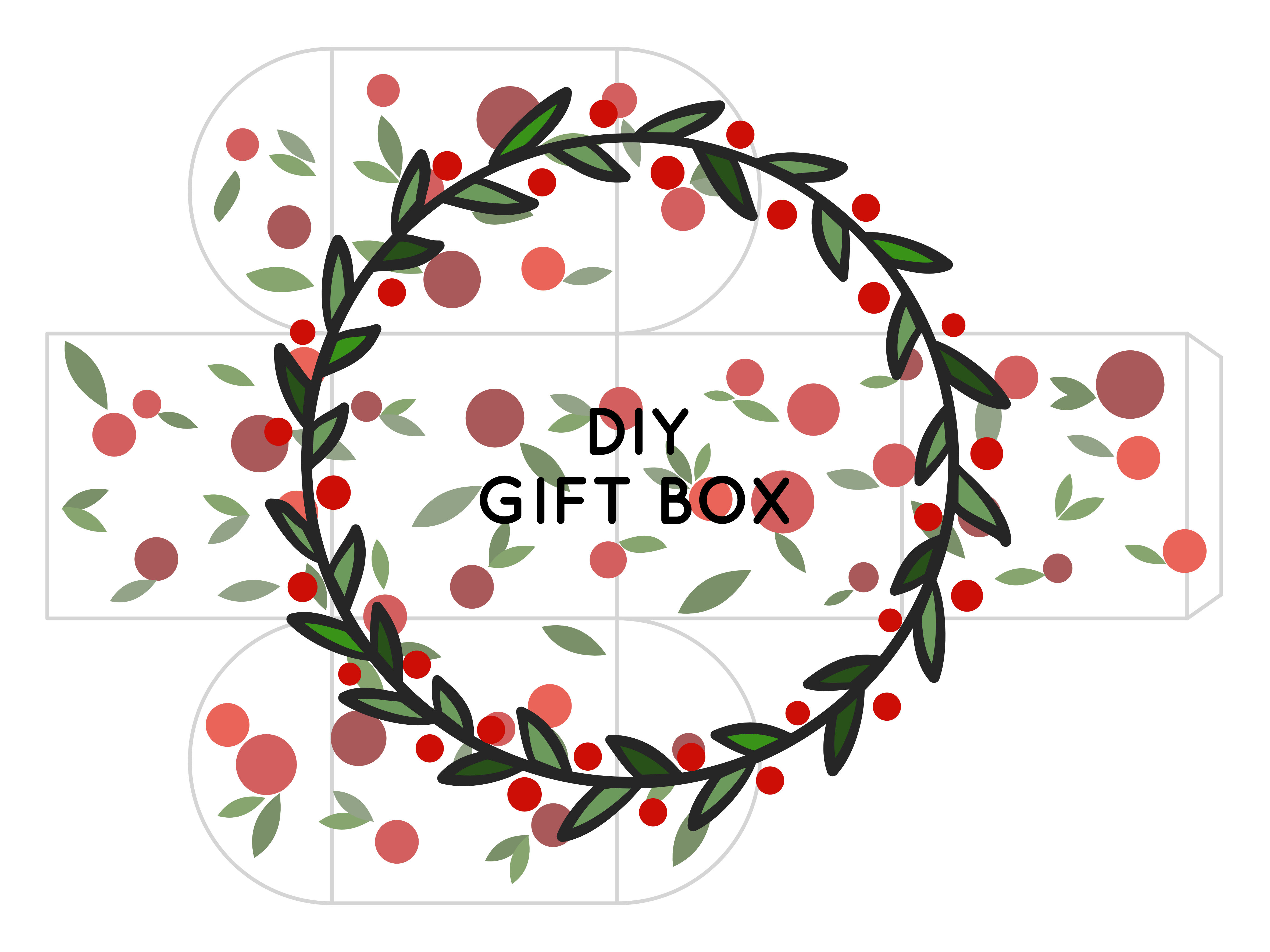 FREE printable small square christmas gift box