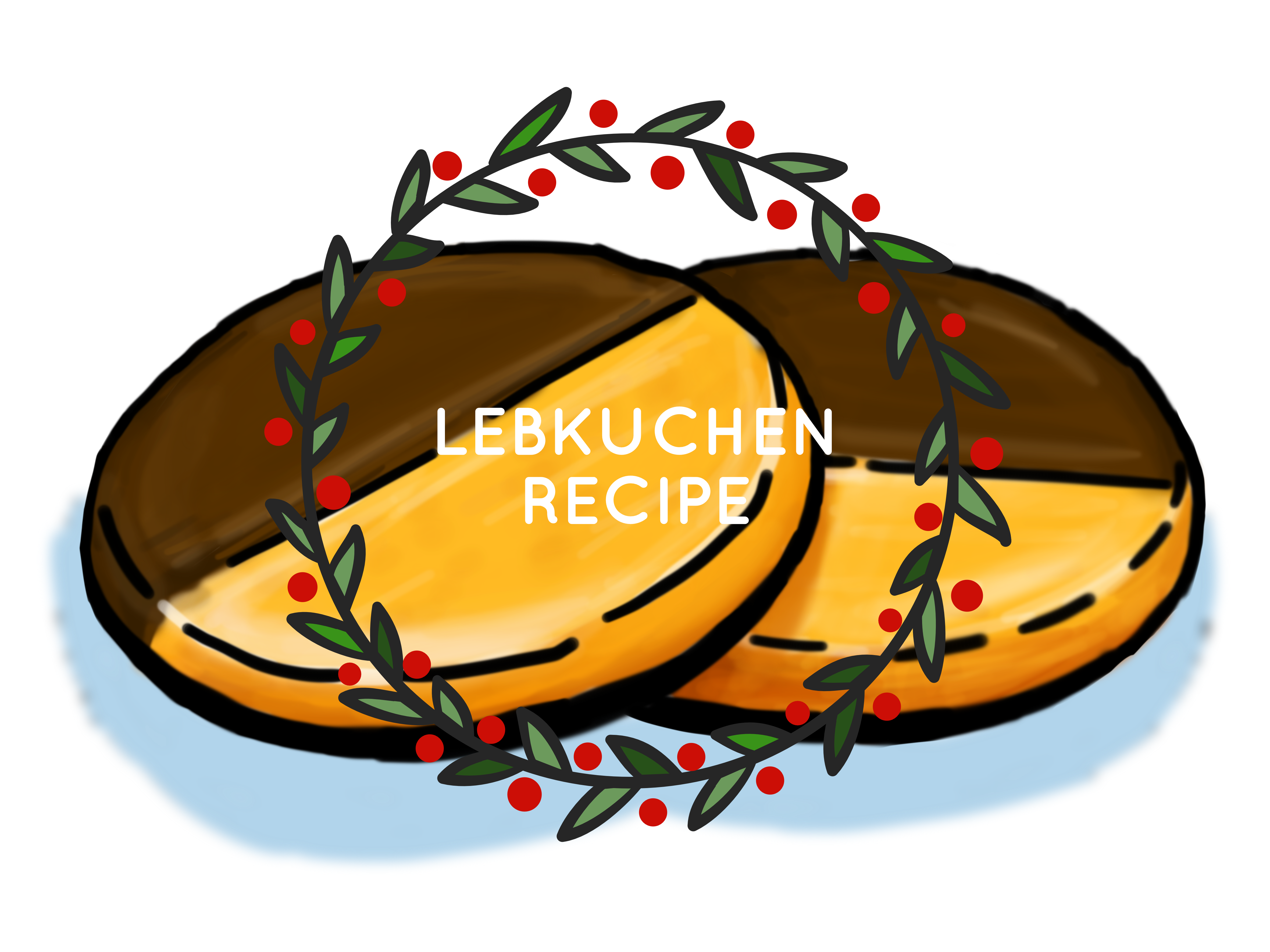 Lebkuchen recipe illustration
