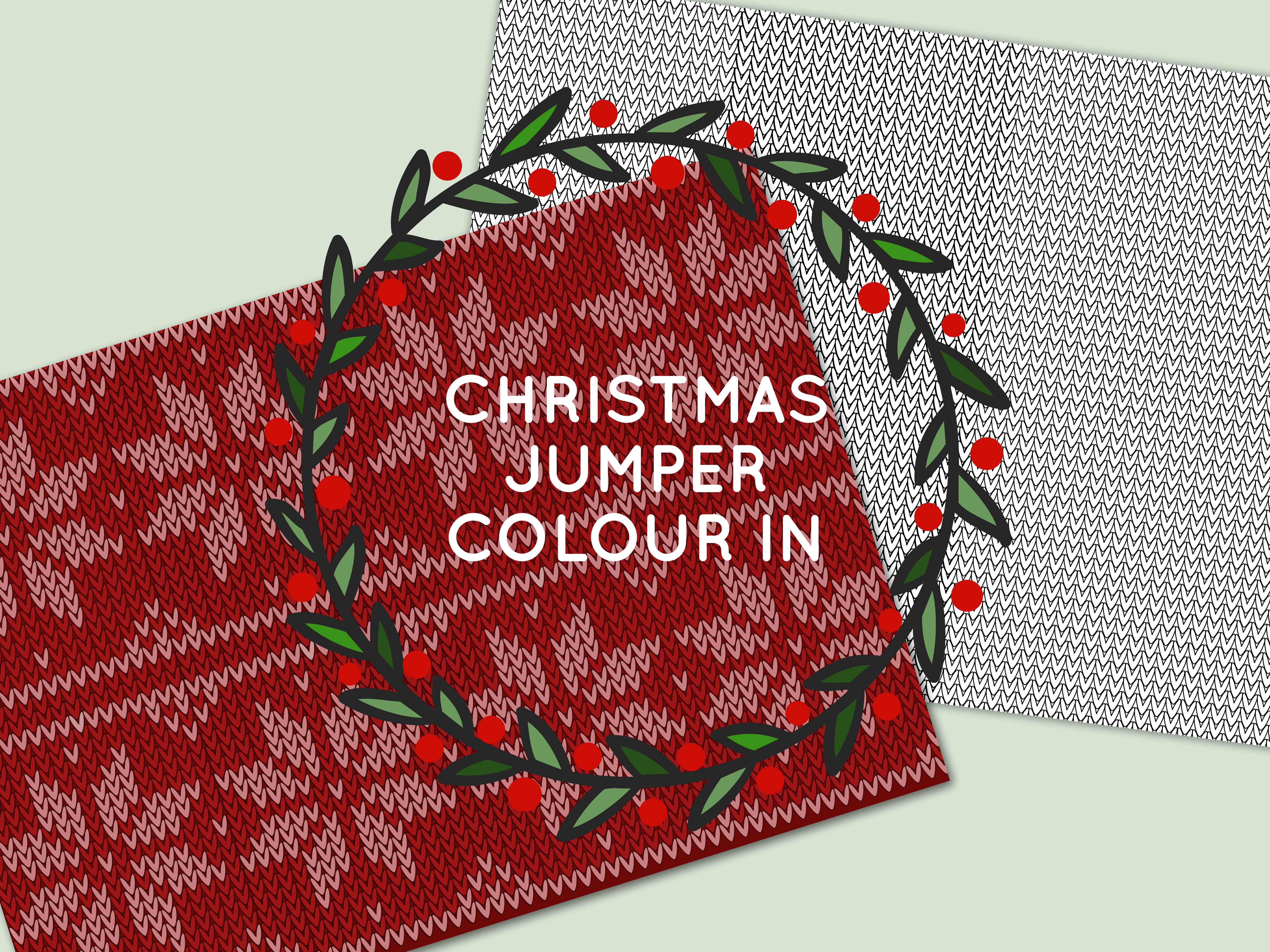 FREE printable christmas jumper color in