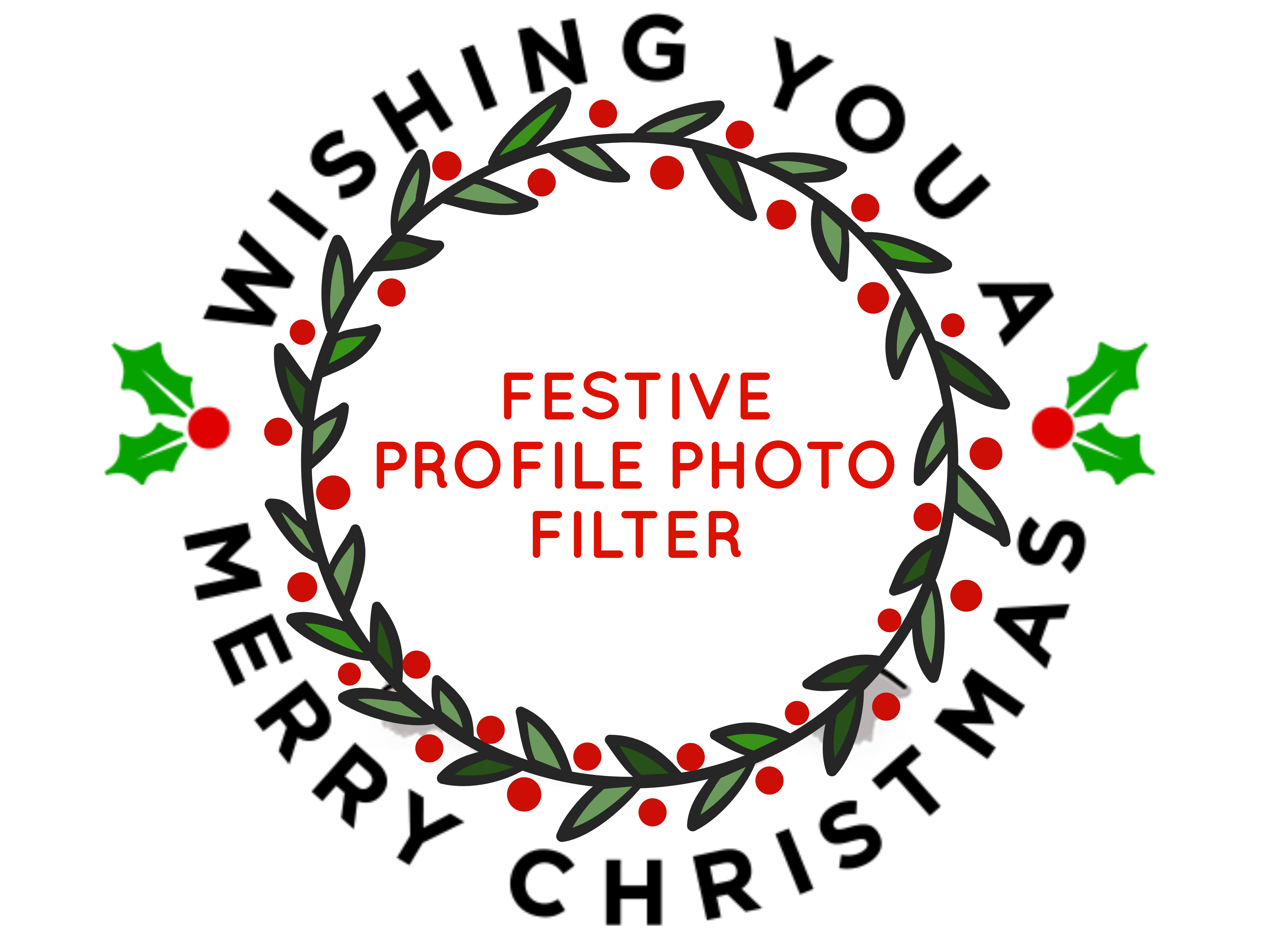 FREE festive christmas profile picture red and green