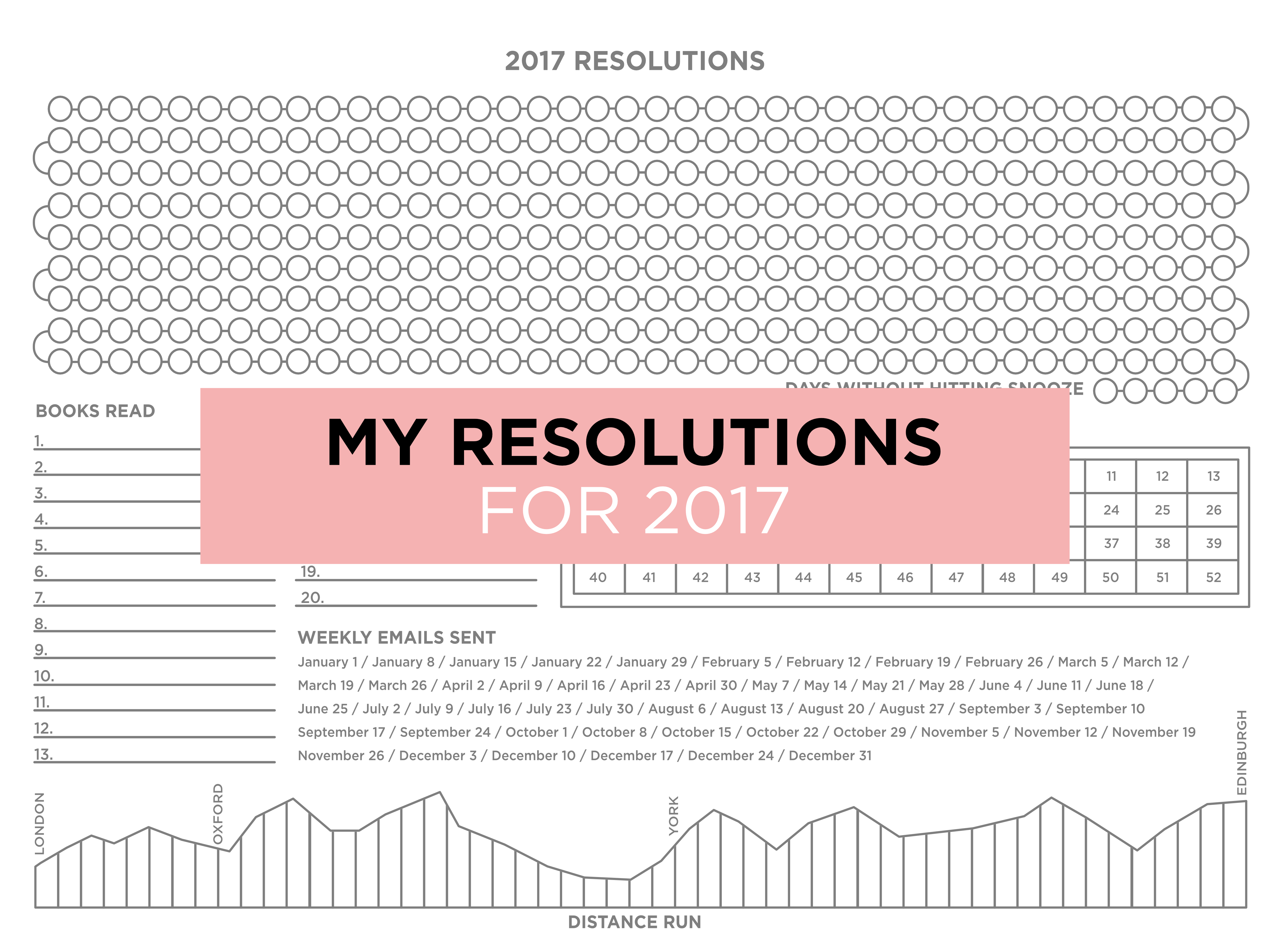 new year's resolutions poster 2017