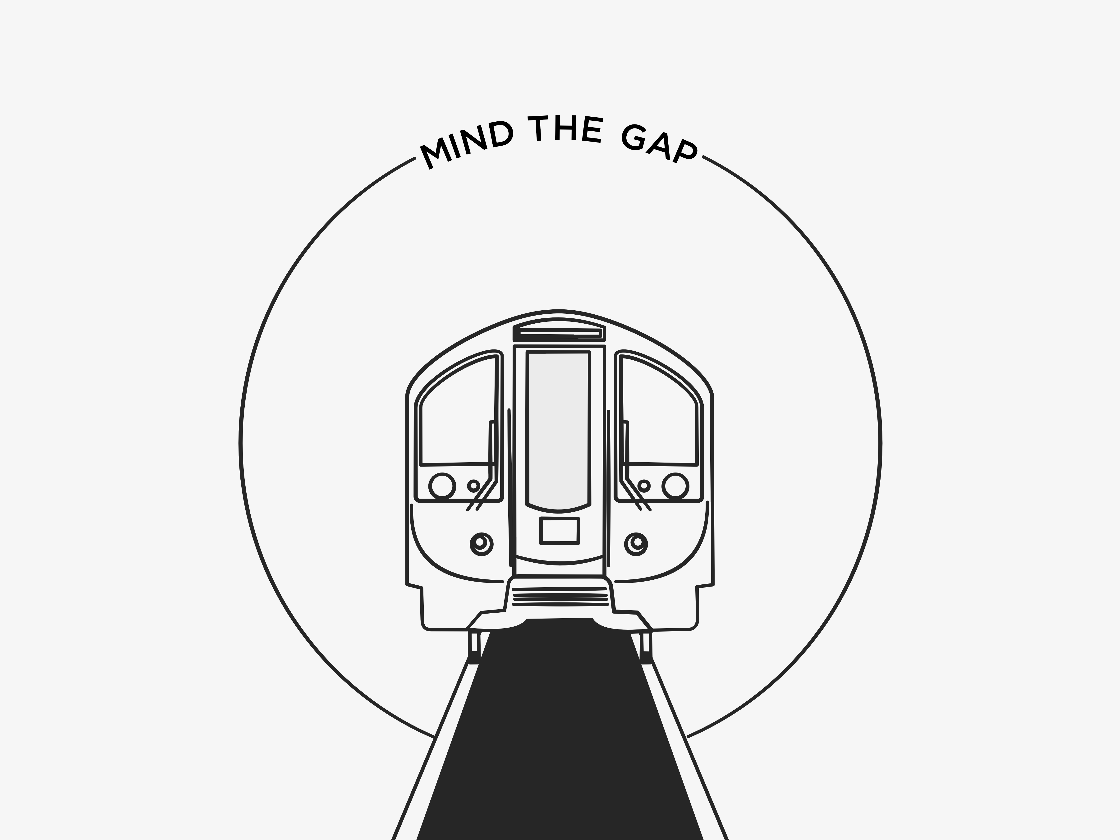 london underground tube mind the gap illustration