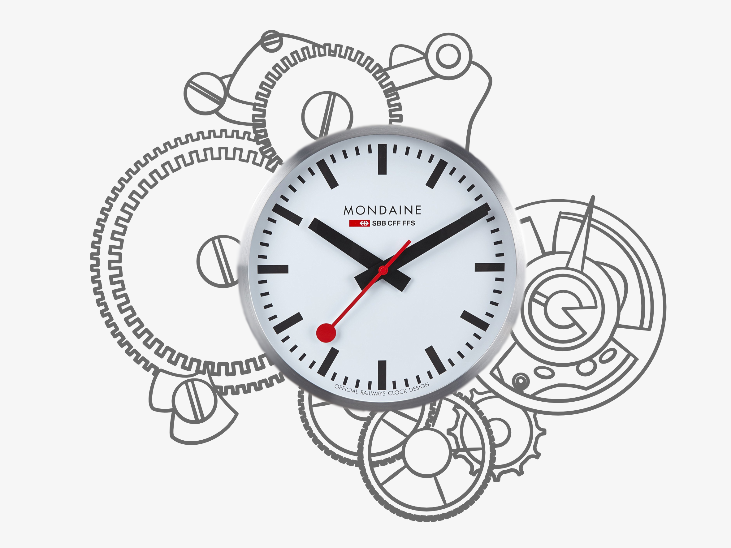 Mondaine swiss railway clock design history