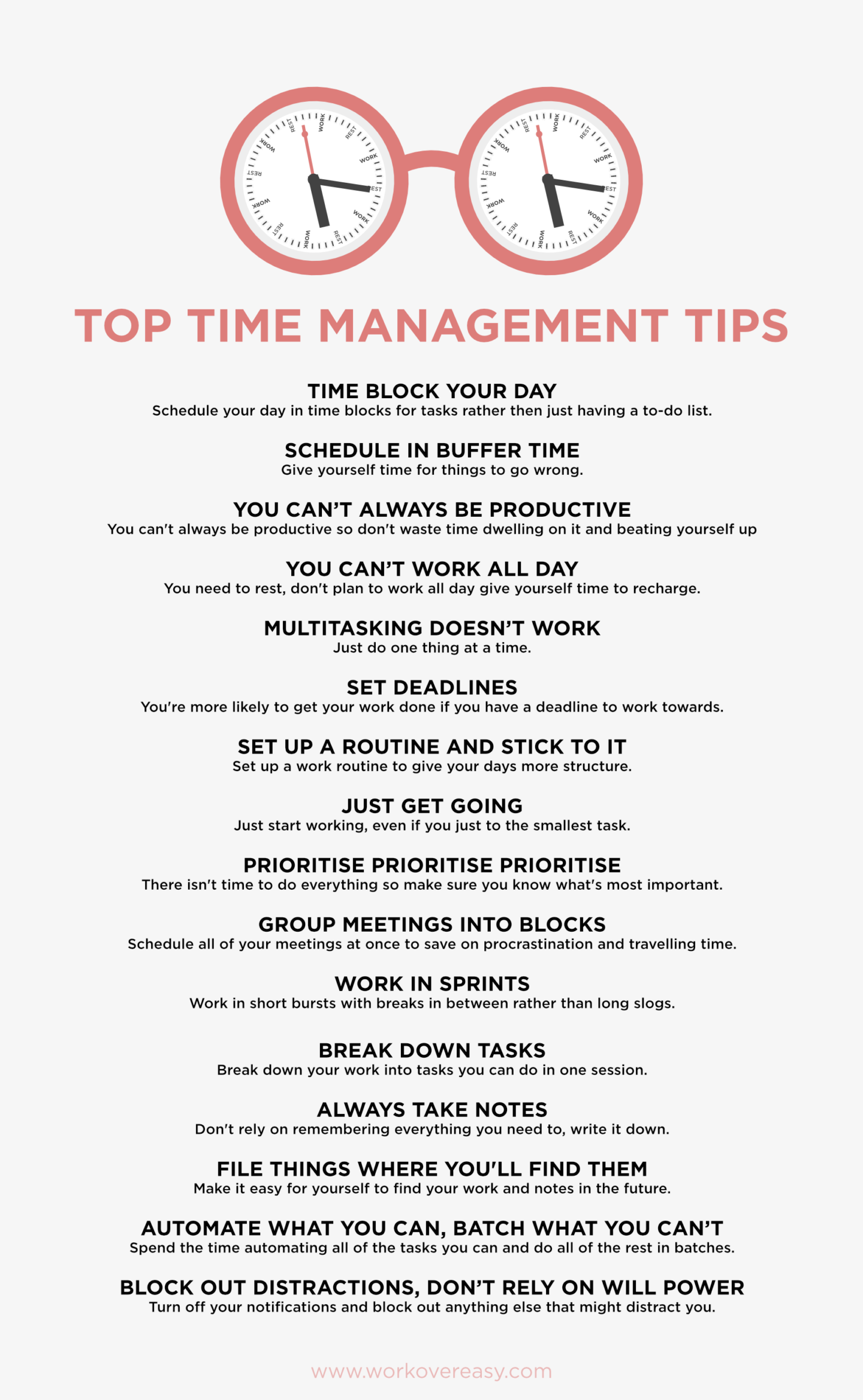 10 Terrific Time Management Tips - BrandonGaille.com  Time Management Tips