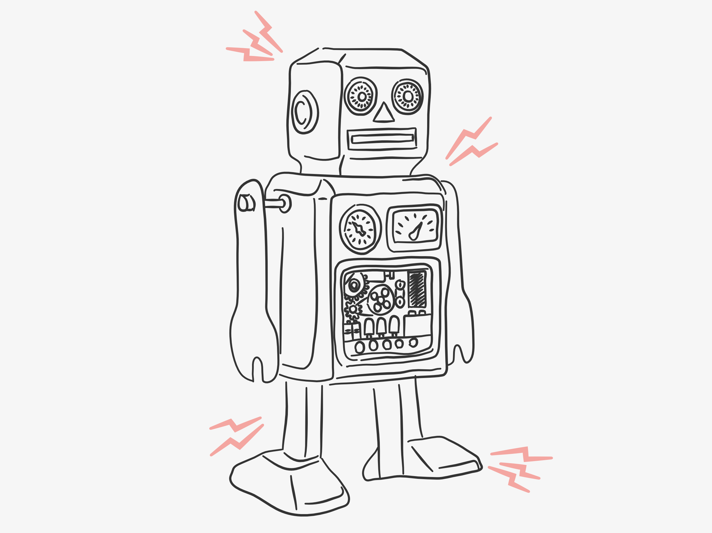 7 Things All Creatives Should Automate robot illustration