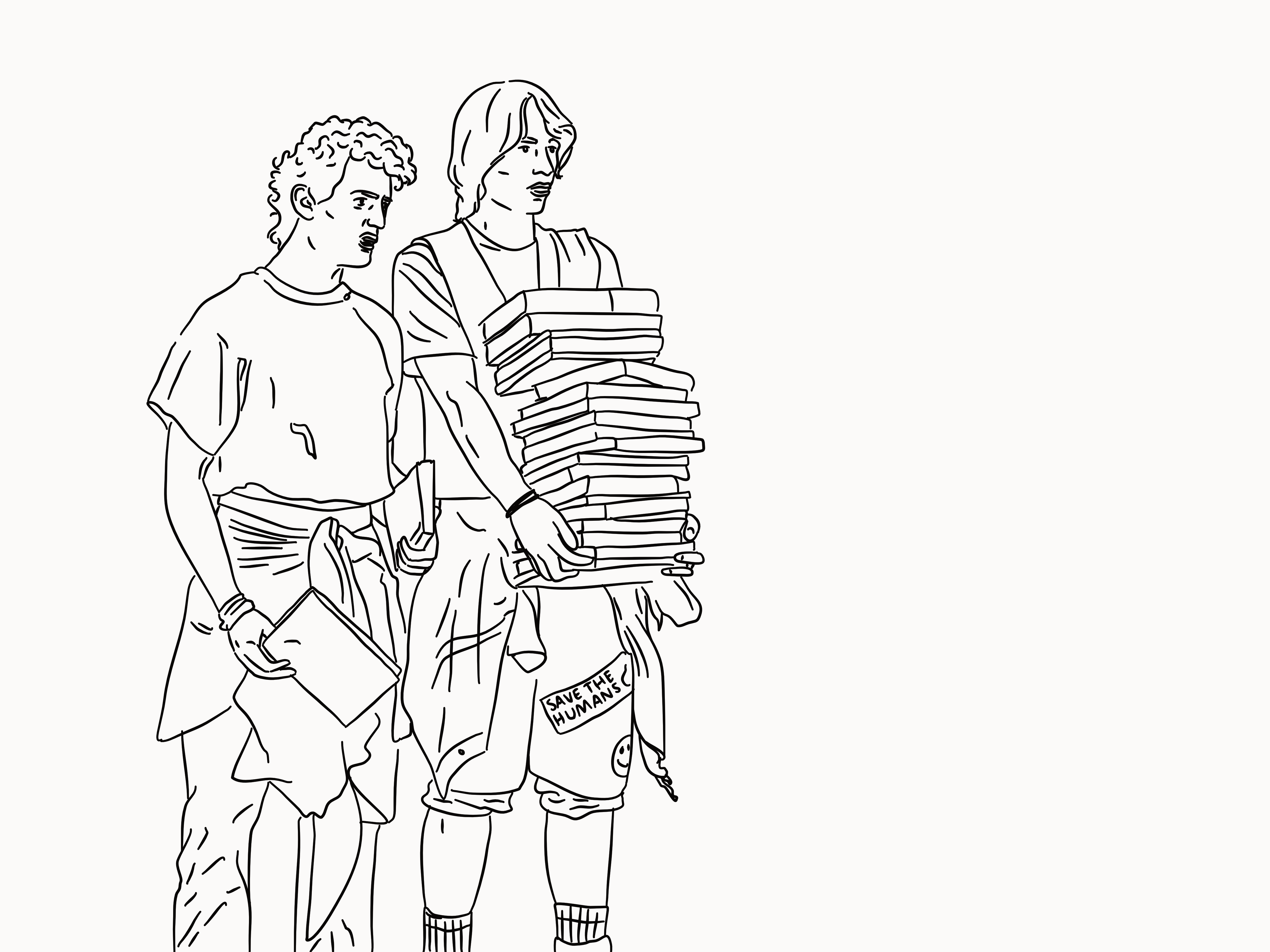 Bill and Ted illustration