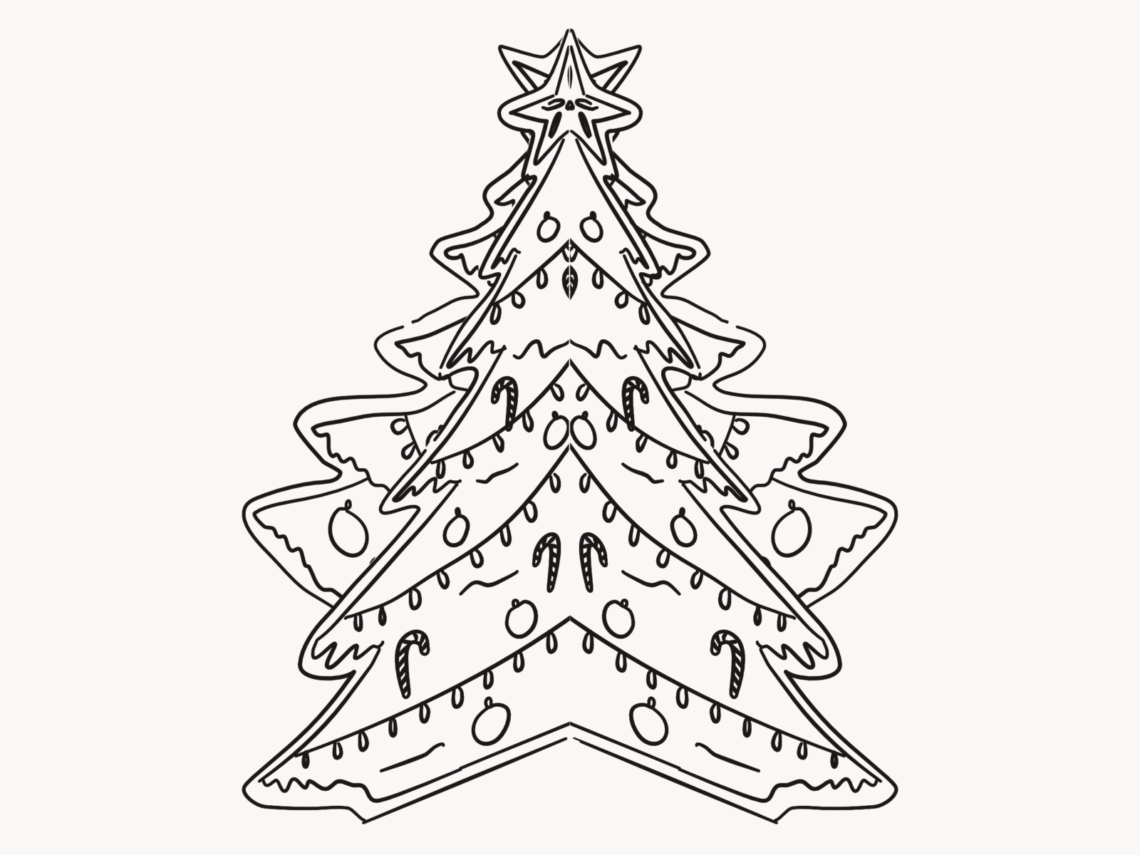 picture regarding Printable Christmas Tree Pictures referred to as Printable Xmas Tree Decoration Perform Above Very simple